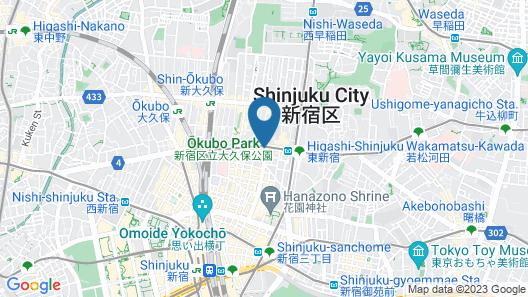 APA Hotel Higashi-Shinjuku-Kabukicho Map