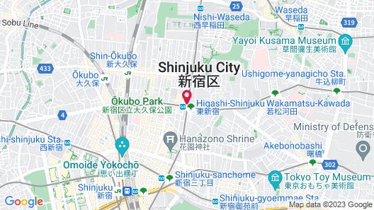 APA Hotel Higashi Shinjuku Ekimae Map