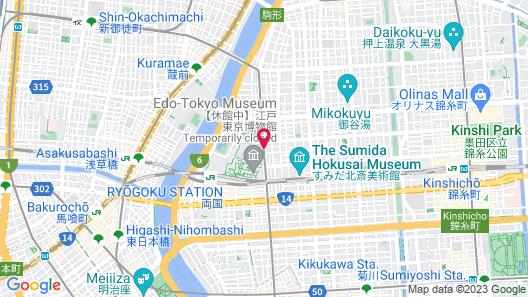 Daiichi Hotel Ryogoku Map