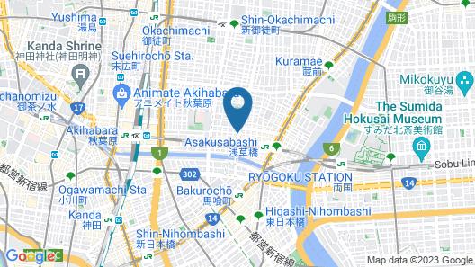 GRIDS TOKYO ASAKUSA-BASHI HOTEL&HOSTEL Map