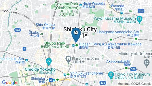 Sotetsu Fresa Inn Higashi Shinjuku Map