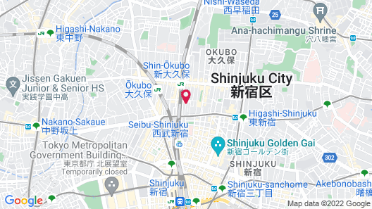 The GLOBAL HOTEL TOKYO Map