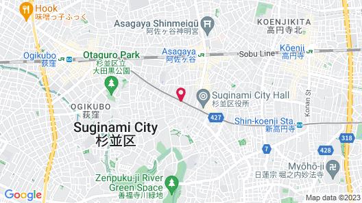 Hotel Route-Inn Tokyo Asagaya Map