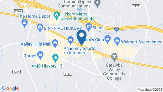 Holiday Inn Express Hickory-Hickory Mart, an IHG Hotel Map