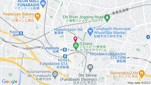 Rex Inn Funabashi Map
