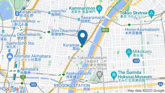 MyCUBE by MYSTAYS Asakusa Kuramae Map