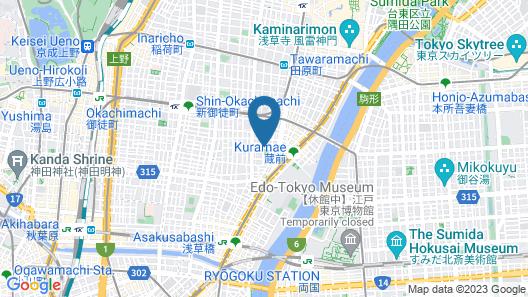 44824 Hotel Cocoro Inn Asakusa Kuramae Map