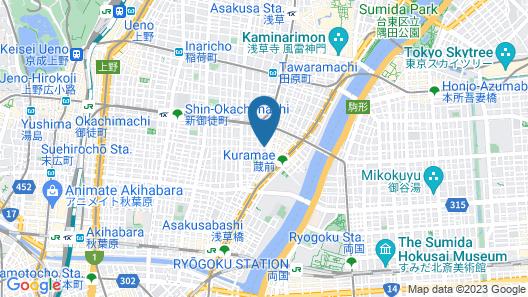 FOCUS Kuramae - Hostel Map