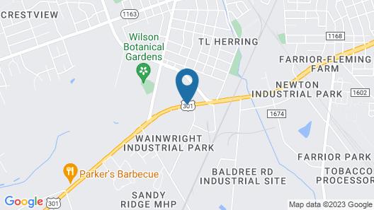 Americas Best Value Inn Wilson Map