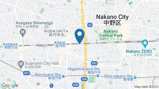 KOENJI JUNJO HOTEL Map