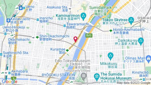 APA Hotel Asakusa-Kuramae Map