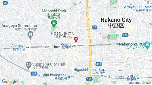 ARTIST HOTEL - BnA HOTEL Koenji Map