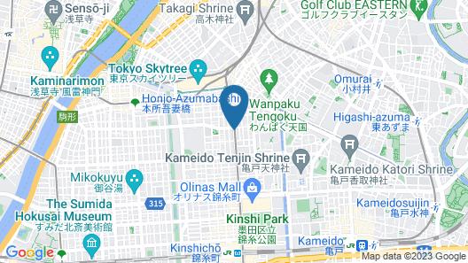 Tokyo Yumemachi Residence Inn Map
