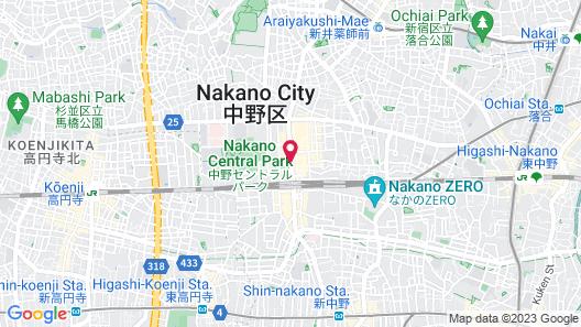 Nakano Sunplaza Hotel Map