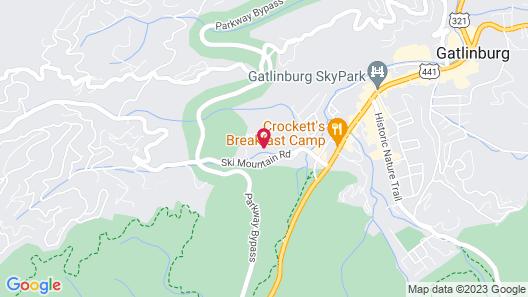 Smoky Mountain Splash - Six Bedroom Cabin Map