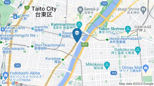 Hotel AMANEK Asakusa Ekimae Map