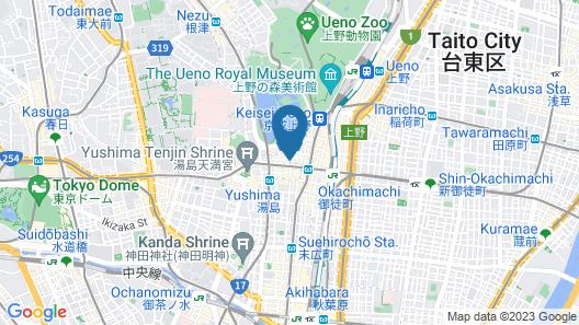 Centurion Hotel Ueno Map
