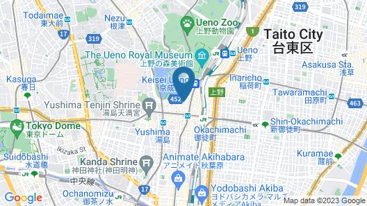 bnb+ Ueno Okachimachi Map
