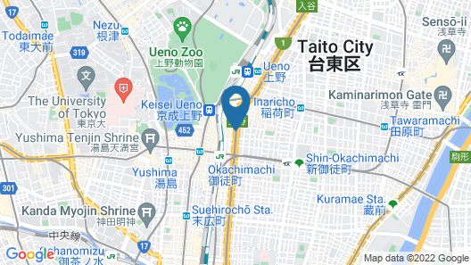 APA Hotel Okachimachieki-Kita S Map