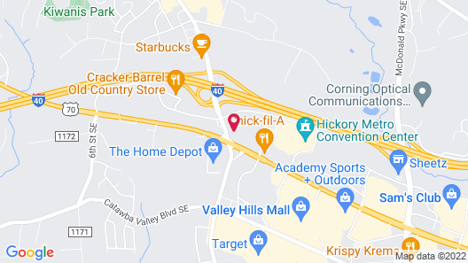 Crowne Plaza Hotel Hickory, an IHG Hotel Map