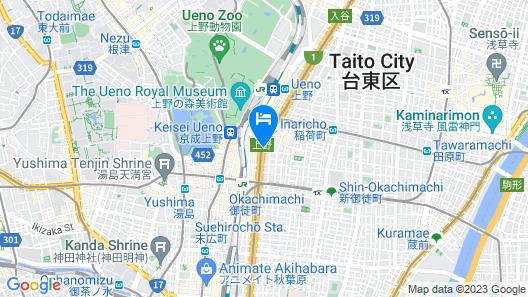 Tosei Hotel Cocone Ueno Map