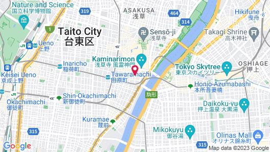 APA Hotel Asakusa Kaminarimon Map