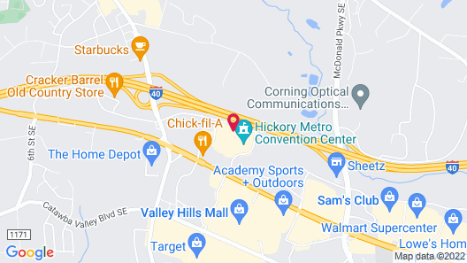 Hampton Inn Hickory Map