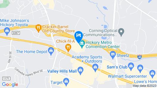 Hampton Inn Hickory Map