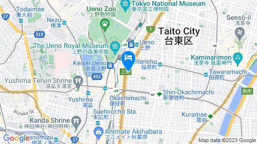APA Hotel Ueno Ekimae Map