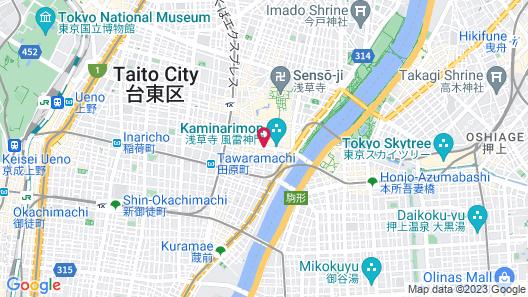 The Gate Hotel Asakusa Kaminarimon by Hulic Map