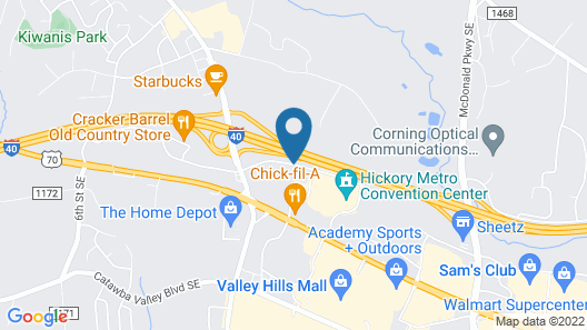 Best Western Hickory Map