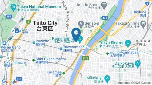 Khaosan Tokyo Kabuki - Hostel Map