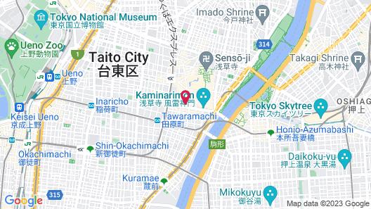 Asakusa Central Hotel Map
