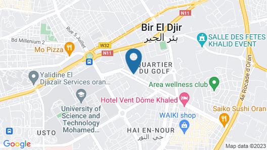 Hôtel Vendome Khaled Map