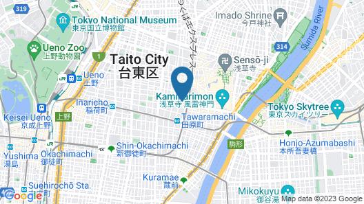 Khaosan Tokyo Laboratory - Hostel Map