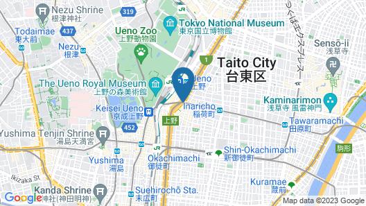 Mitsui Garden Hotel Ueno Map