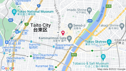 Residential Hotel B:CONTE Asakusa Map