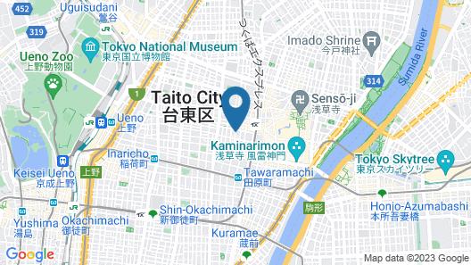 Plat Hostel Keikyu Asakusa Station Map