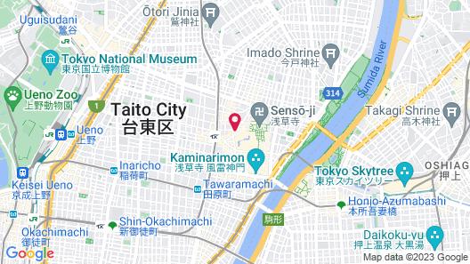 Onyado Nono Asakusa Natural Hot Springs Map