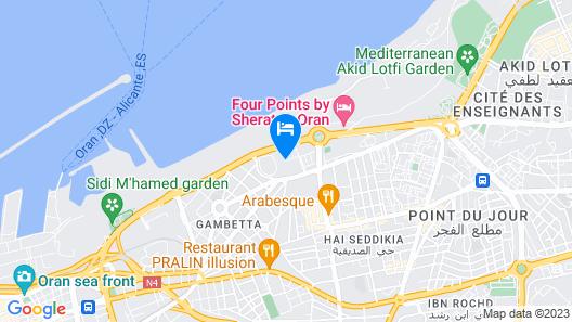 ibis Oran Les Falaises Map