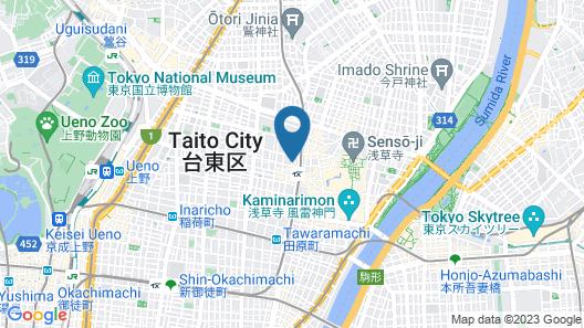 Khaosan World Asakusa RYOKAN & HOSTEL Map