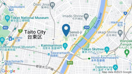 Asakusa View Hotel  annex rokku Map
