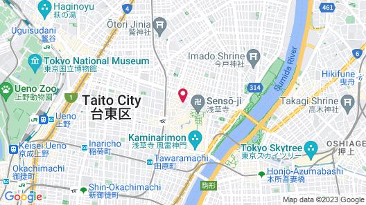 Sakura Hostel Asakusa Map