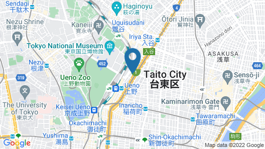 Ueno Hotel Map
