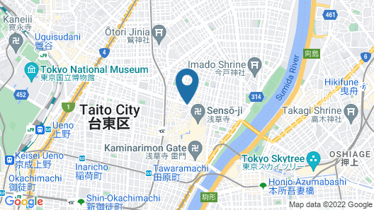 Hotel Wbf Tokyo Asakusa Map