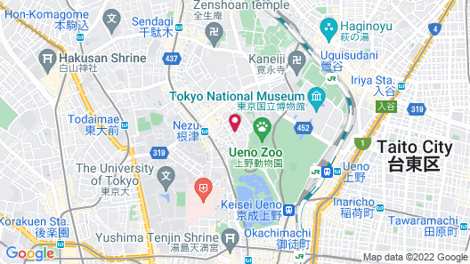 Hotel Graphy Nezu Map