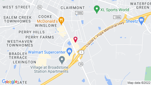 Candlewood Suites Apex Raleigh Area, an IHG Hotel Map