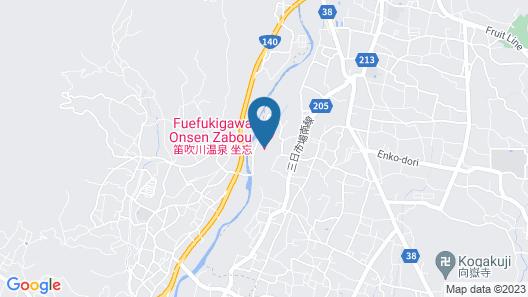 Fuefukigawa Onsen Zabou Map