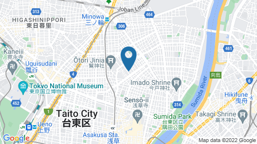 Asakusa Ryokan TANIFUJI Map