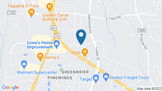Wingate by Wyndham Raleigh South / Garner Map